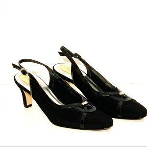 Ros Hommersom Black Slingback Heel Sz- 8